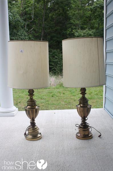 Fabulous DIY Chevron Lamp Tutorial