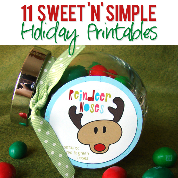 11 Sweet 'N' Simple Holiday Printables