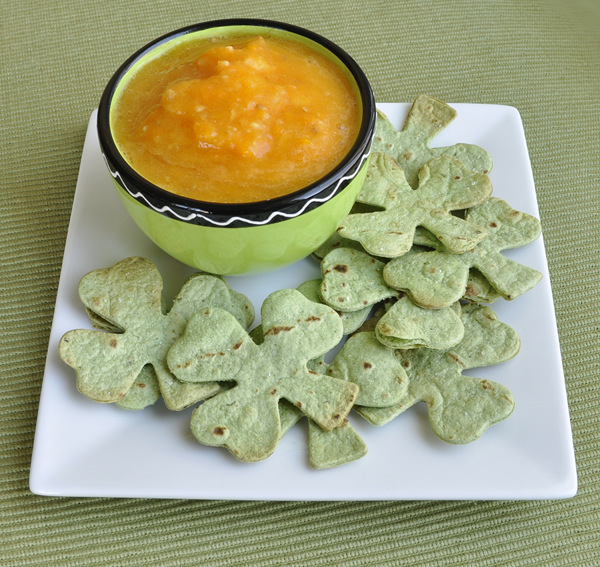 Shamrock Chips with Pot O Gold Dip