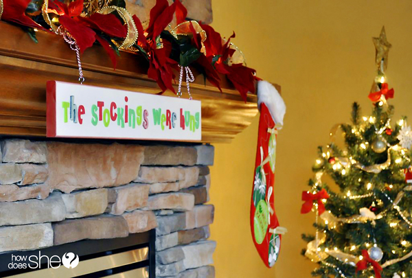 DIY Decor For Holiday Stockings With Or Without A