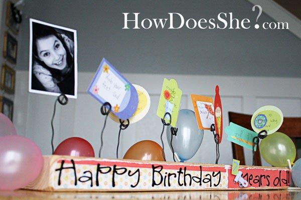 Happy Birthday Board - from a 2x4
