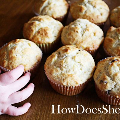 Best Ever Banana Nut Muffins {with chocolate chips of course}