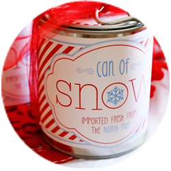 Can of Snow! Exclusive Free Printable : How to Make Snow