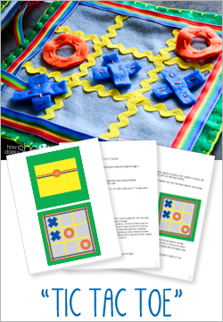 """Tic Tac Toe"" Felt Quiet Book Pattern"