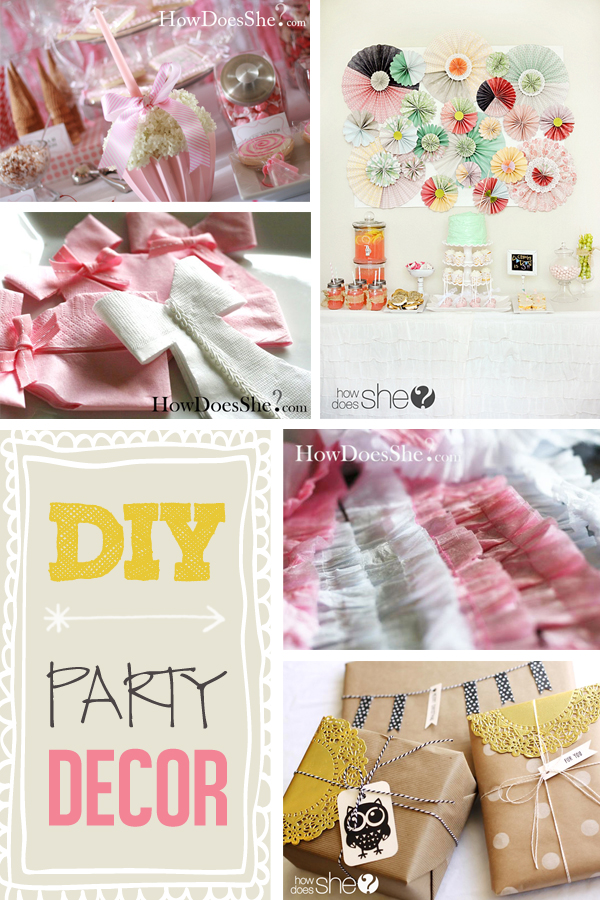 Easy & Inexpensive DIY Party Decor