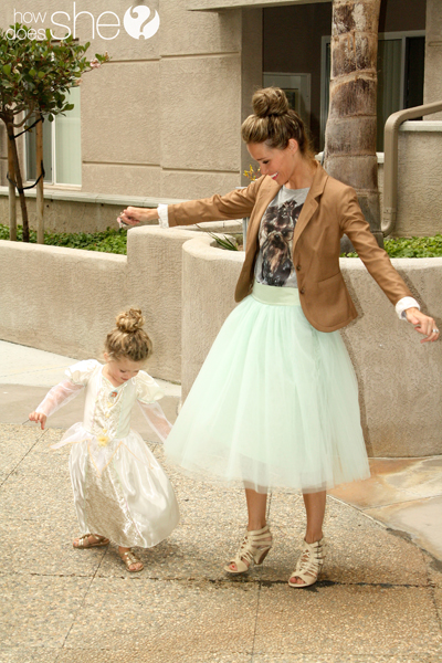 image of woman and little girl dancing