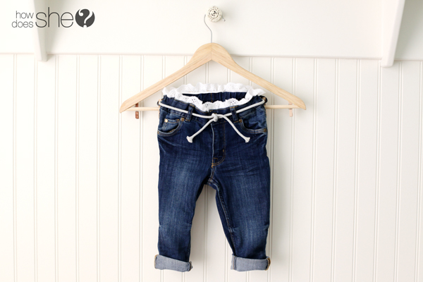 Lace Trimmed Jeans and Some Tips for Styling Your Little Ones!