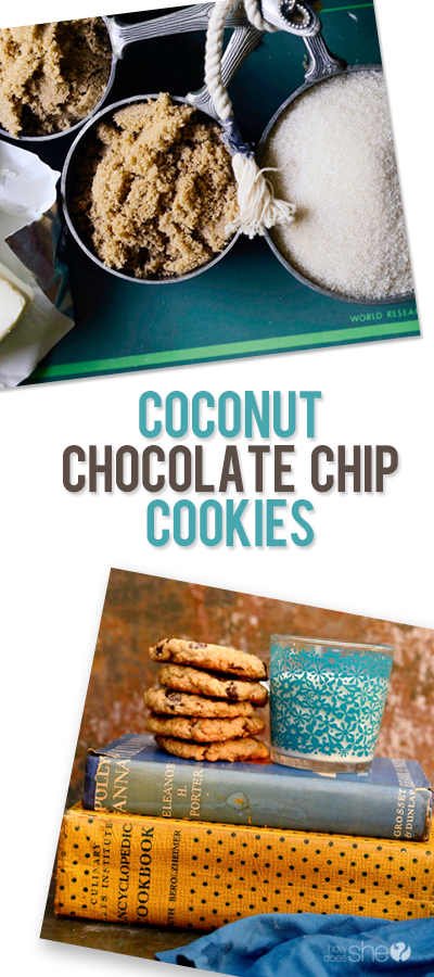 coconut chocolate chip cookies pinterest