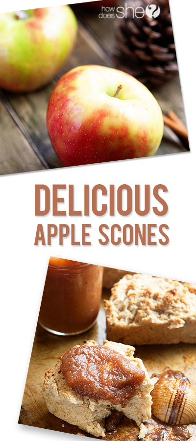 delicious apple scones