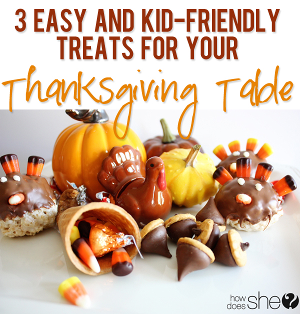 Kid Friendly Thanksgiving Table Treats