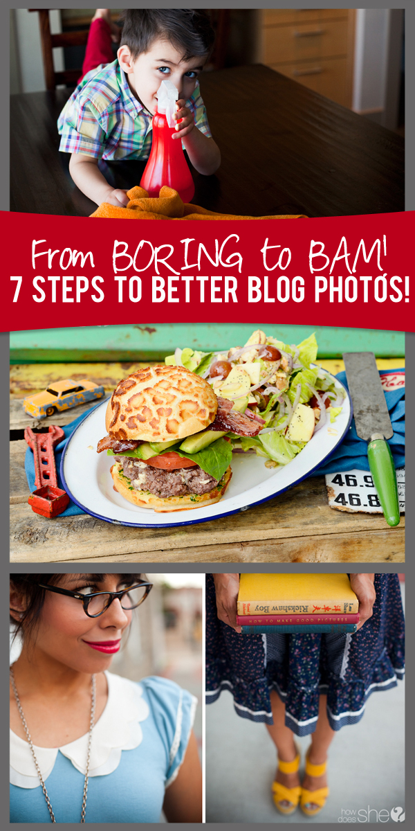 seven steps to better blog photos collage