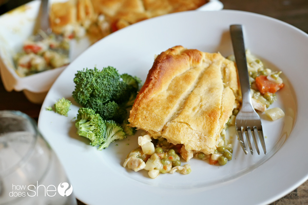 Easy Peasy* Chicken Pot Pie (AKA Omigosh, You Have To Give Me The Recipe For This!)