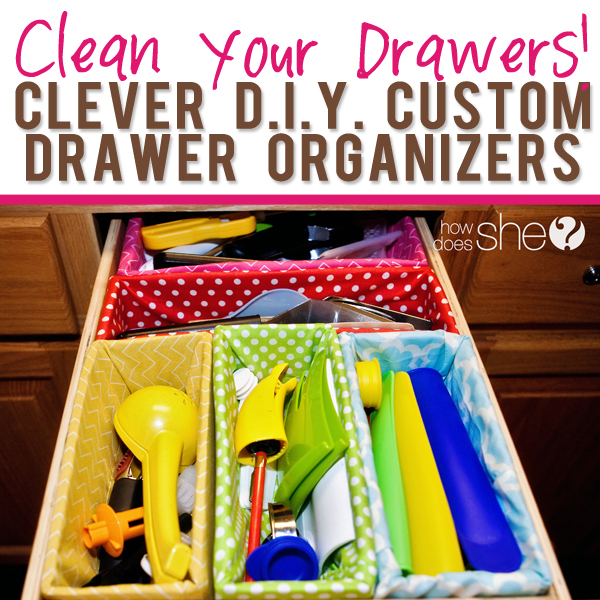 Clean Your Drawers! – a cheap alternative to those pricey store bought organizers