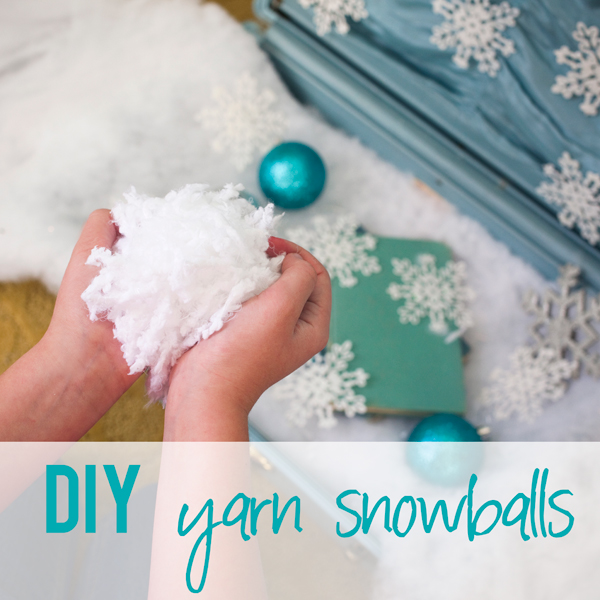 DIY Yarn Pom Pom Snowballs + Music