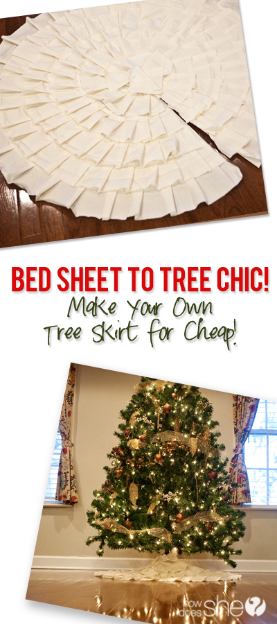Bed sheet to tree chic make your own skirt for