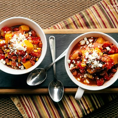 Slow Cooker Winter Squash Chili