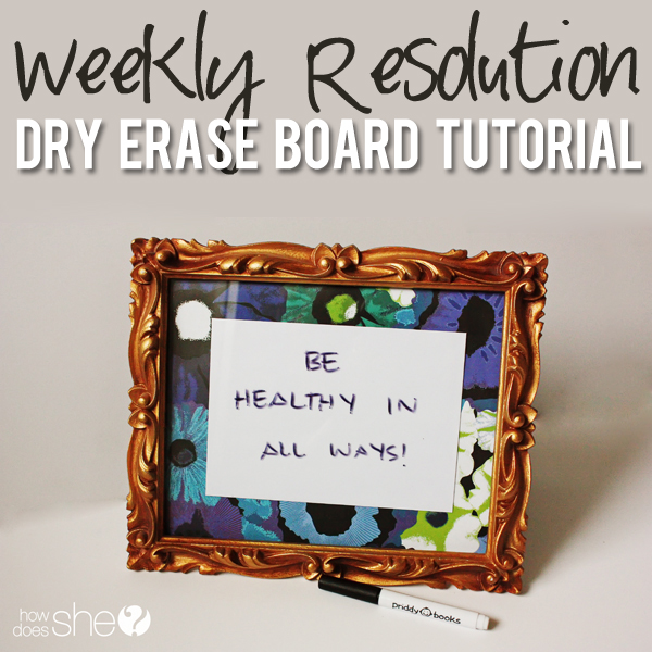 emily weekly resolution dry erase board pinterest