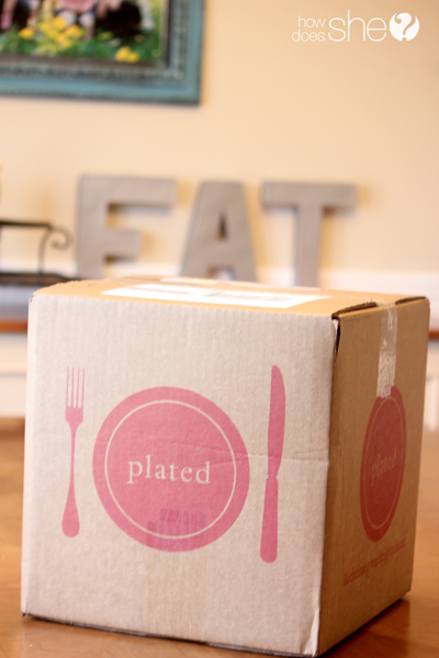 box from Plated on table