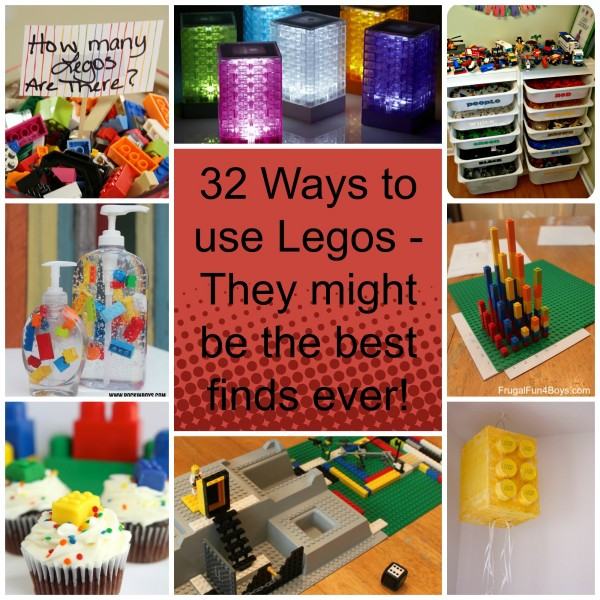 32 Ways to use Legos - they might be the best finds ever fb