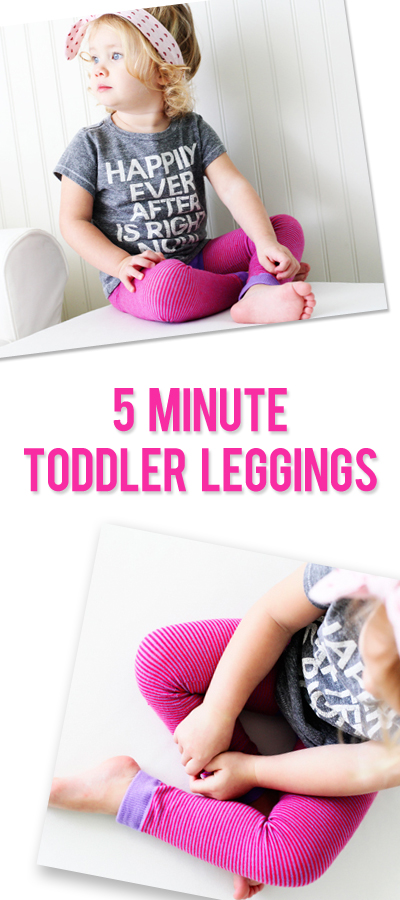 5 minute toddler leggings pinterest image