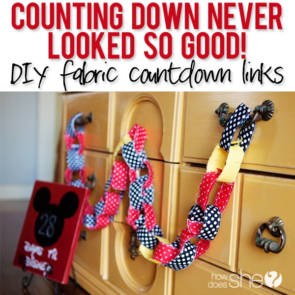 Counting Down Never Looked So Good! – DIY fabric countdown links