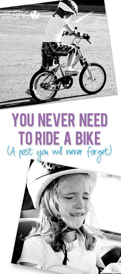 You Never Need to Ride a Bike