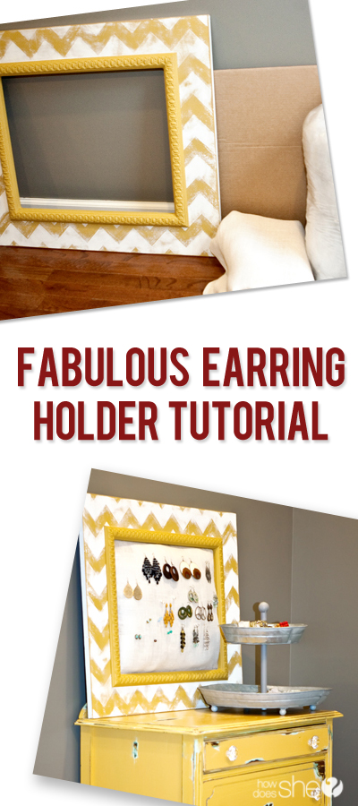 Fabulous Earring Holder Tutorial