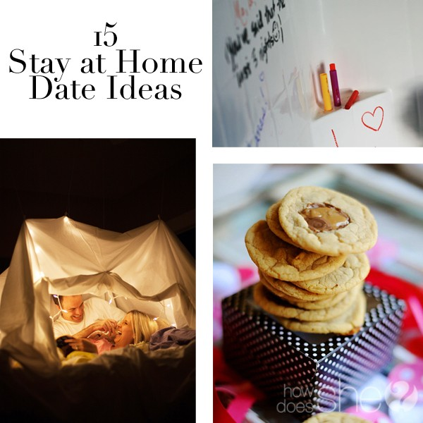 15 Stay at Home Date Ideas collage image