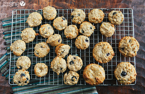 Blueberry Oatmeal Power Muffins