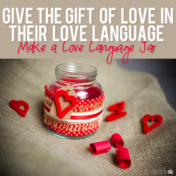 making a love language jar