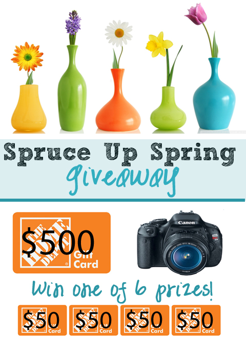 The Spring Spruce Up Giveaway!  6 Winners.  Big Prizes!