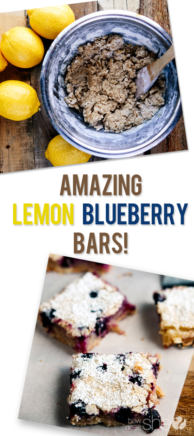 Amazing Lemon Blueberry Bars