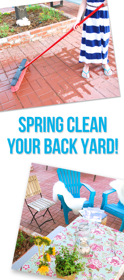 ashley backyard clean up pinterest image