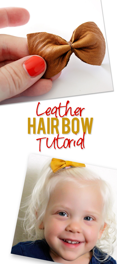 Leather Hair Bows Tutorial