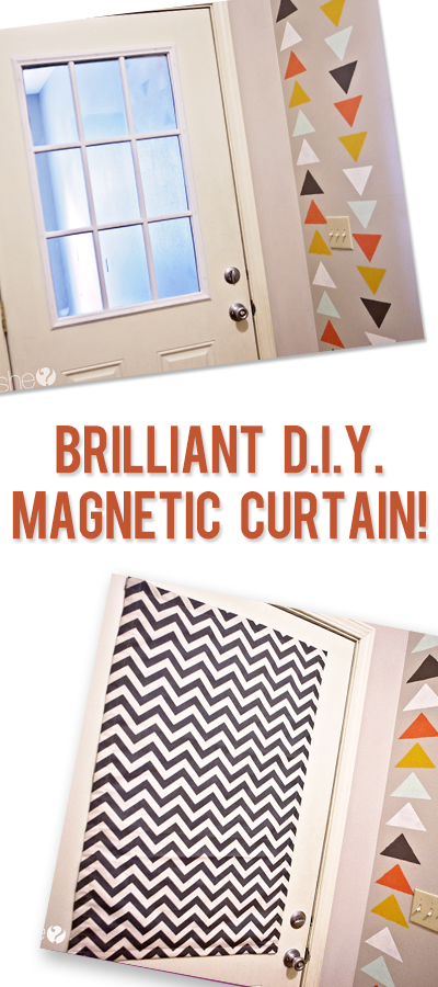 Decorating window covering for door : Brilliant D.I.Y. Magnetic Curtain!