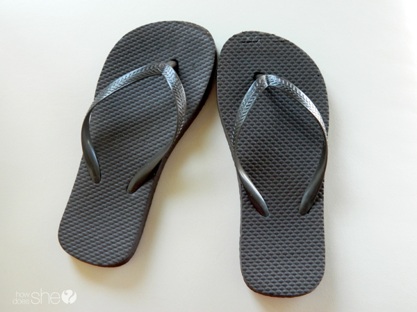Dollar store nautical flip flop makeover how does she nicolette flip flop 1 publicscrutiny Image collections