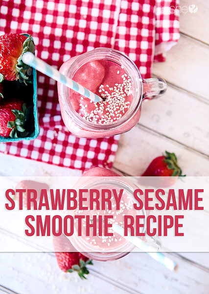 strawberry sesame smoothie pinterest
