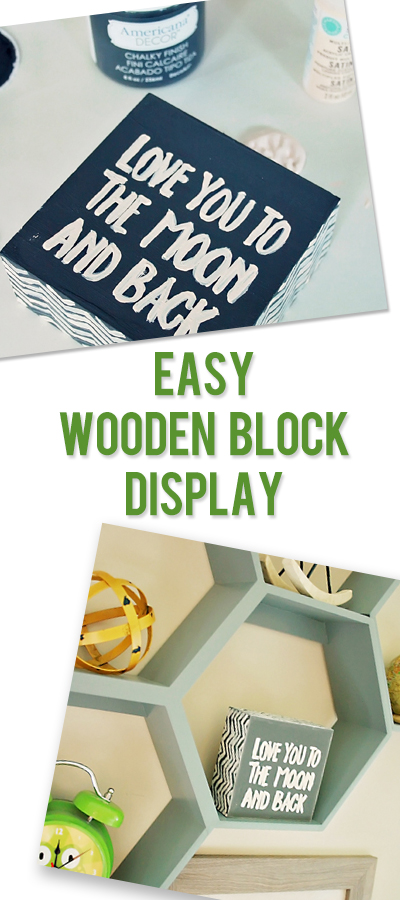 Darleen wooden block display pinterest