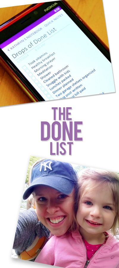 The Done List: A To-Do List Makeover