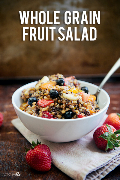 whole grain fruit salad pinterest