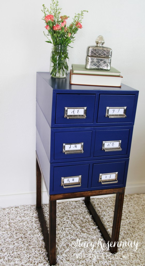 card table filing cabinet