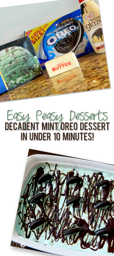 Easy Peasy Mint Oreo Ice Cream Dessert in Under 10 Minutes!