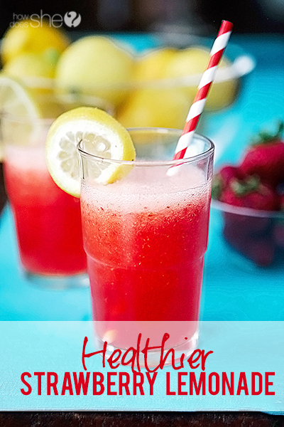 Healthier Strawberry Lemonade