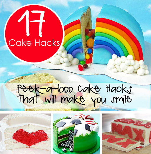 17 Peek-a-boo Cake Hacks that will make you smile!