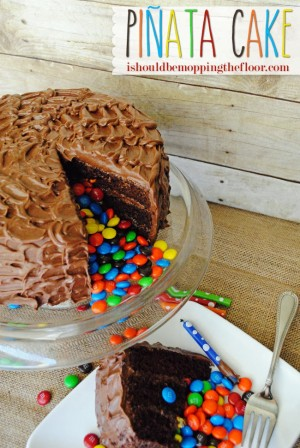 pinata cake with m&ms #shop