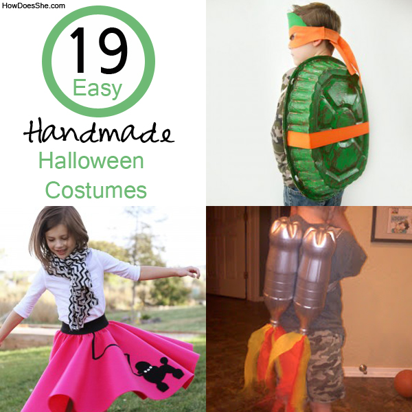 19 Easy Homemade Halloween Costumes How Does She - Simple Halloween Costumes