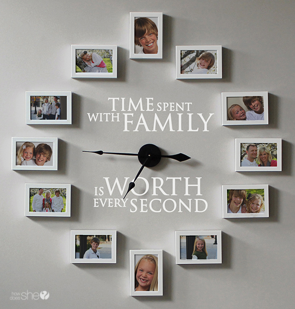 Time Spent With Family Clock Decor Diy
