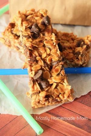 Coconut Oil Peanut Butter Chocolate Chip Granola Bars 2