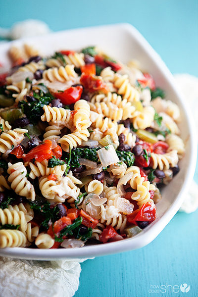 Easy Cheesy Veggie Pasta with Black Beans 2 copy