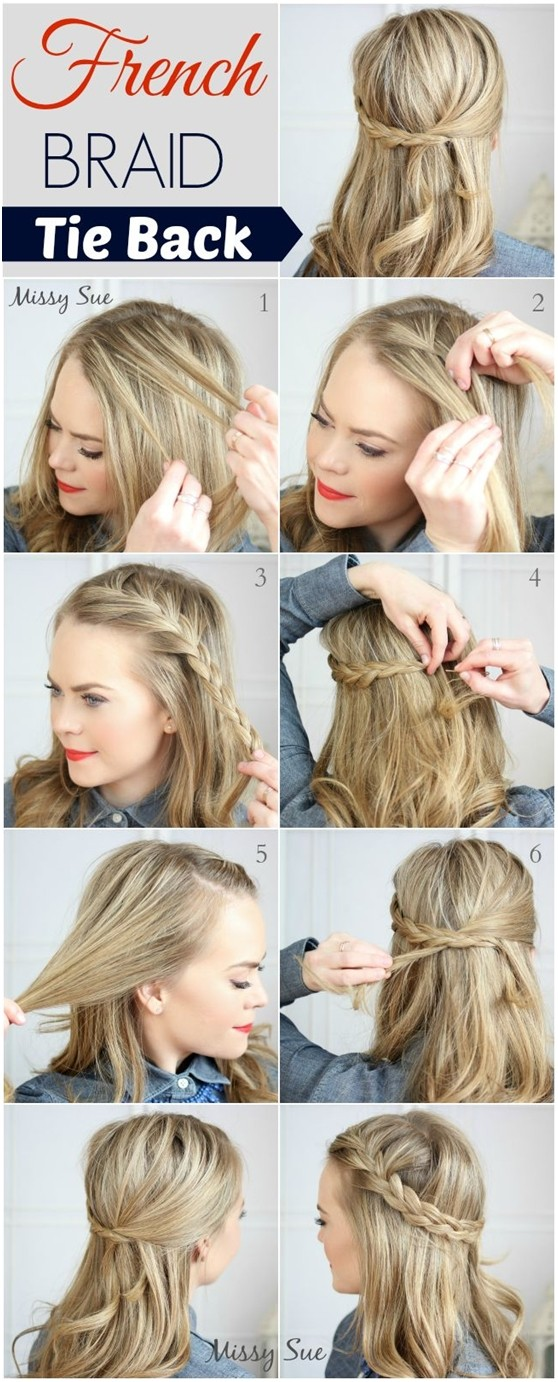 how to french braid own hair - photo #36